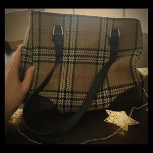 Gorgeous Mock Burberry Plaid Large Purse